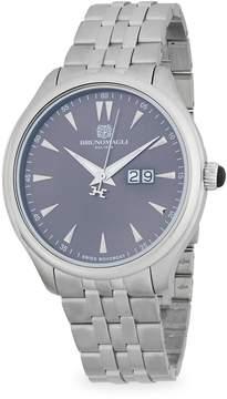Bruno Magli Men's Stainless Steel Bracelet Watch