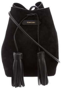 Tom Ford Suede Small Double Tassel Bucket Bag