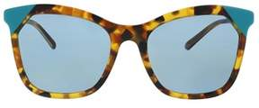 Burberry Be4263 371080 Brown Havana/azure Butterfly Sunglasses.