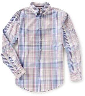 Roundtree & Yorke Trademark Long-Sleeve Plaid Sportshirt