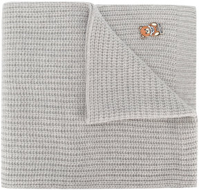 Moschino ribbed teddy pin scarf
