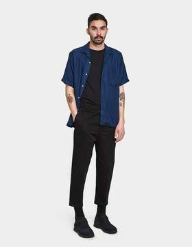 Gitman Brothers Navy Rayon Camp Shirt