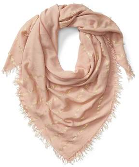 Gap Metallic fringe scarf