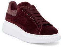 Alexander McQueen Velvet Platform Sneakers
