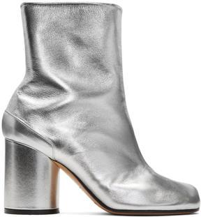 Maison Margiela Silver Leather Tabi Boots