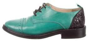 3.1 Phillip Lim Leather Round-Toe Oxfords