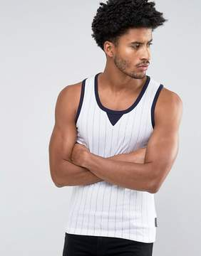 French Connection Baseball Pinstripe Tank