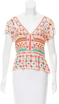 Cacharel Printed Silk Blouse