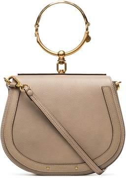 Chloé grey nile leather shoulder bag