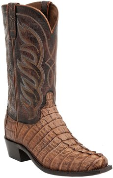Lucchese Men's Landon Hornback Caiman Western Boots