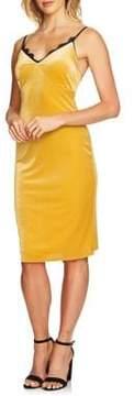 Cynthia Steffe Lace-Trimmed Velvet Dress