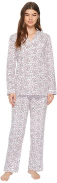 Eileen West Jersey Notch Collar Pajama Women's Pajama Sets