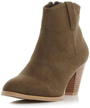 Head Over Heels ** Dune 'Pacha' Green Ankle Boots