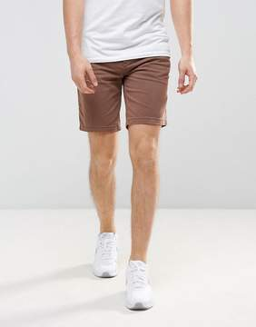 Pull&Bear Denim Shorts In Rust