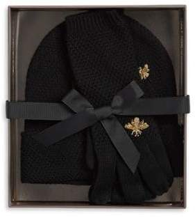BCBGMAXAZRIA Two-Piece Bee Beanie and Gloves Set