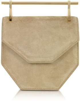 M2Malletier Mini Amor Fati Hazelnut Suede Crossbody Bag