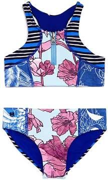 Maaji Girls' Reversible Mixed Prints 2-Piece Swimsuit - Little Kid, Big Kid
