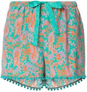 Figue Maja paisley-print drawstring shorts