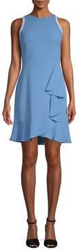 Shoshanna Women's Grove Ruffle Trim Sheath Dress