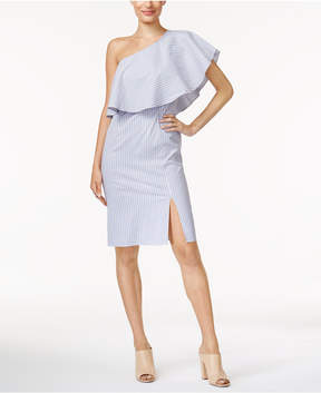 Bar III Ruffled One-Shoulder Dress, Created for Macy's