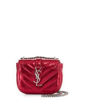 Saint Laurent Monogram Micro Quilted Leather Crossbody Bag, Elect - RED - STYLE