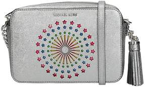 Michael Kors Shoulder Bag In Silver Metallic Leather - SILVER - STYLE