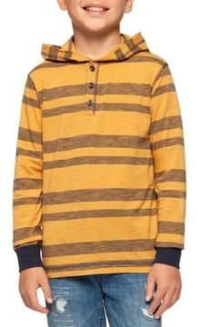 Dex Boy's Stripe Buttoned Hoodie