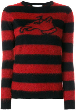 Bella Freud stripped dog jumper