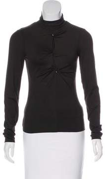 Armani Collezioni Mock Neck Long Sleeve Top