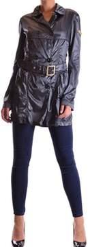 Geospirit Women's Blue Polyamide Trench Coat.