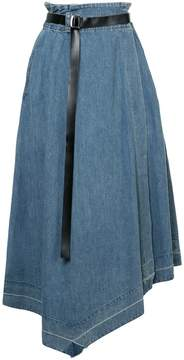 Aula asymmetric denim skirt