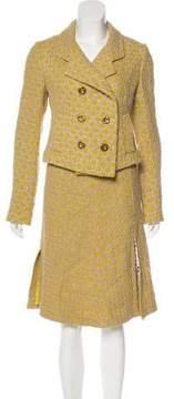 Christian Lacroix Patterned Notch-Lapel Skirt Suit