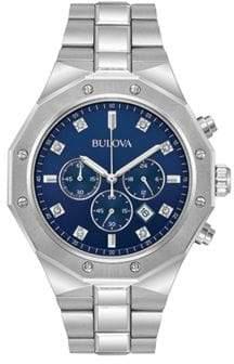 Bulova Diamond Chronograph Stainless Steel Watch- 96D138