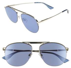 Le Specs Women's Liberation 57Mm Aviator Sunglasses - Gold