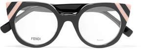 Fendi Cat-eye Acetate Optical Glasses - Gray