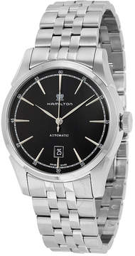 Hamilton Spirit Of Liberty Black Dial Stainless Steel Men's Watch