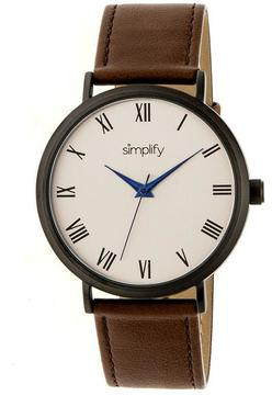 Simplify The 2900 Collection SIM2905 Unisex Watch with Leather Strap