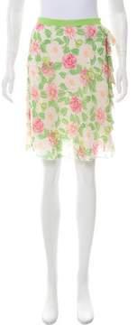 Blumarine Printed Silk Skirt