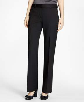Brooks Brothers Wide-Leg Stretch Wool Trousers