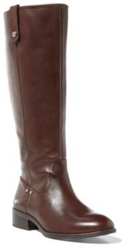 Ralph Lauren Maskin Burnished Leather Boot Dark Brown 5.5
