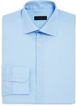 Ike Behar Micro Check Regular Fit Dress Shirt