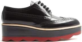Prada Leather flatform brogues