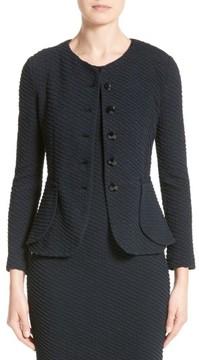 Armani Collezioni Women's Diagonal Jacquard Peplum Jacket