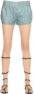 Drome Nappa Leather Shorts