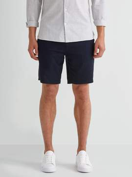 Frank and Oak Plush Drawstring Sweatshort in Navy Blazer