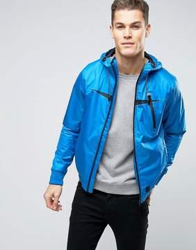 Blend of America Windbreaker Zip Thru Hooded Jacket
