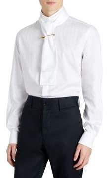 Burberry Shawl Collar Cotton Button-Down Shirt