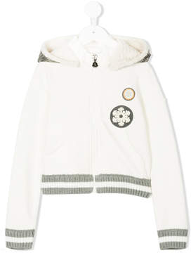 Moncler logo embroidered hoodie