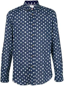 Paul Smith illustrated floral print shirt