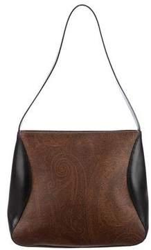 Etro Leather-Trimmed Shoulder Bag
